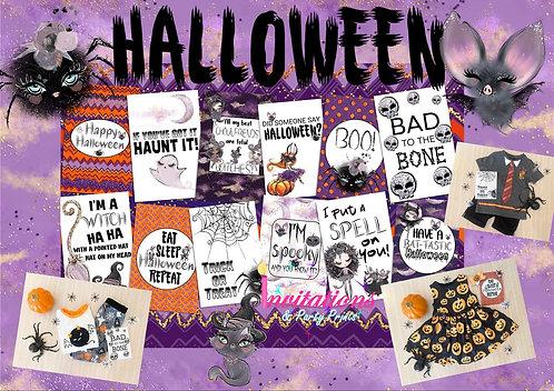 Halloween Flatlay cards