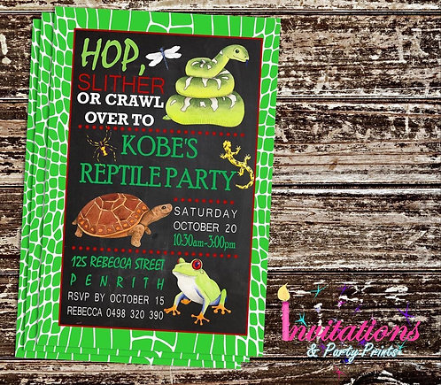 Reptile invitation