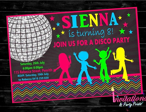 Disco Invitation unisex