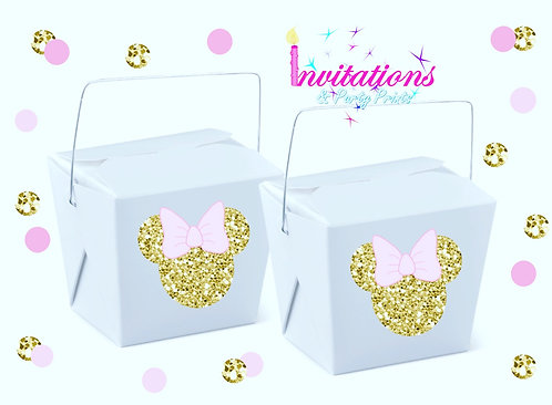 Minnie Mouse themed noodle box