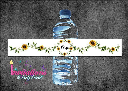 Sunflower bottle labels x 5