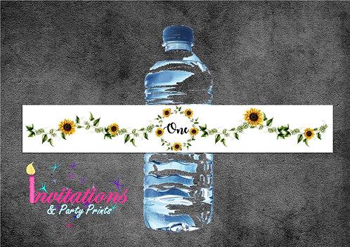 Sunflower bottle labels x 5