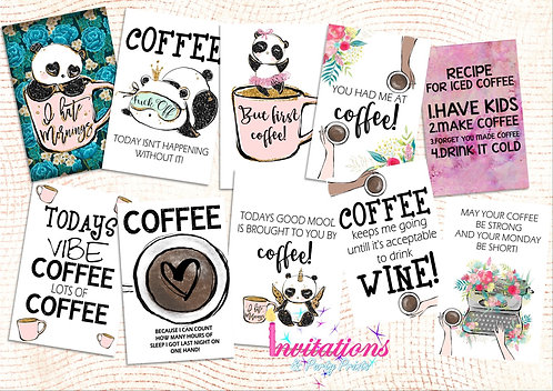 Coffee lovers Flatlay cards
