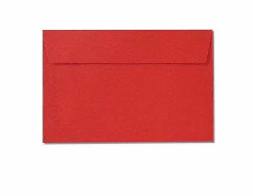 Red C6 envelope
