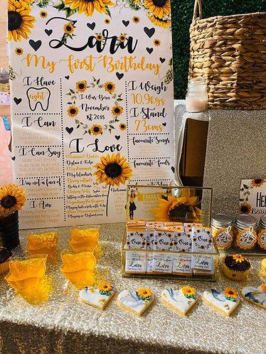 Sunflower milestone chart