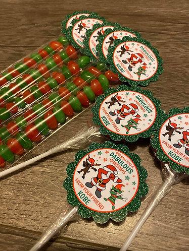 Dabbing Santa Christmas tubes