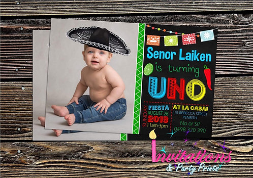 Fiesta with photo invitation
