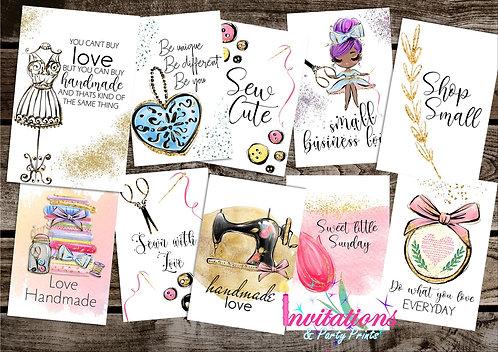 Handmade love Flatlay cards