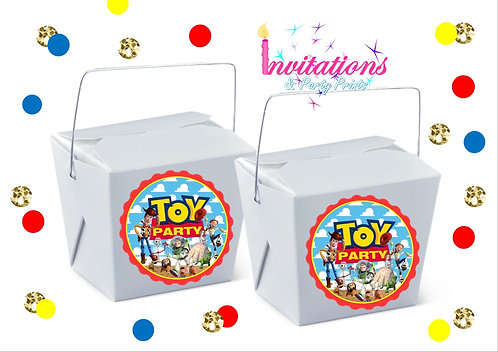 Toy story themed noodle boxes
