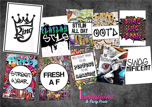 Graffiti flatlay cards