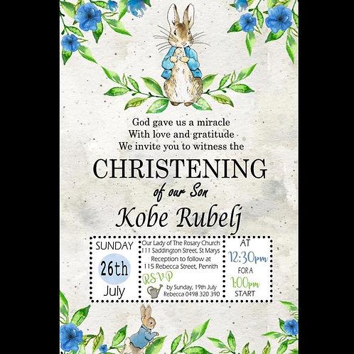 Peter Rabbit Invitation
