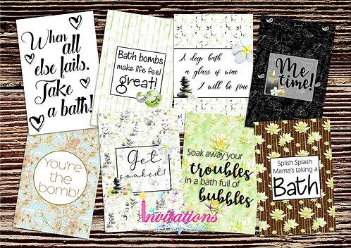 Bath time Flatlay cards