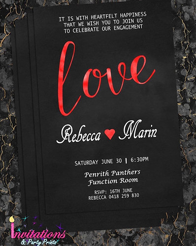 Love Invitation  engagement/wedding