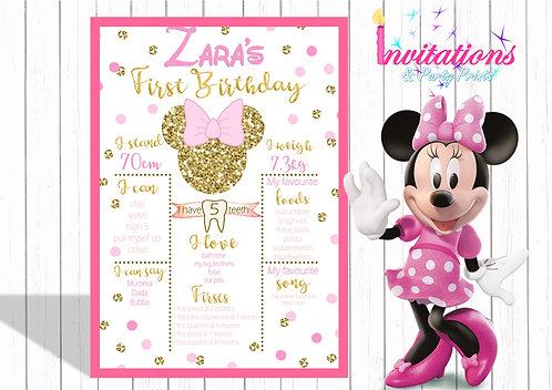 Minnie Mouse milestone chart (digital file)