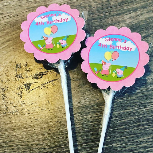 Peppa Pig lollipops x 12