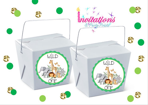 Wild one jungle themed noodle box