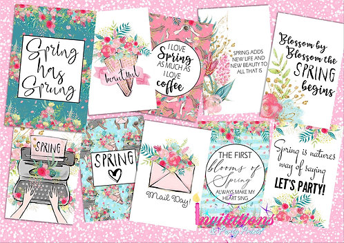 Spring flatlay cards