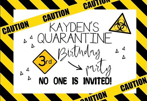Quarantine poster digital file