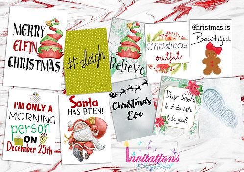 Christmas flatlay card pack 3