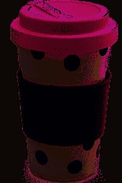 Caroline Gardner Bamboo travel mug
