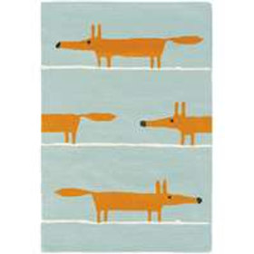 Scion Mr Fox Rug Aqua