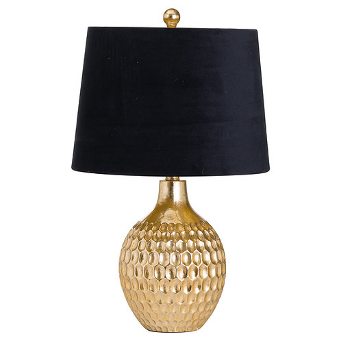 Gold rounded honeycomb lamp