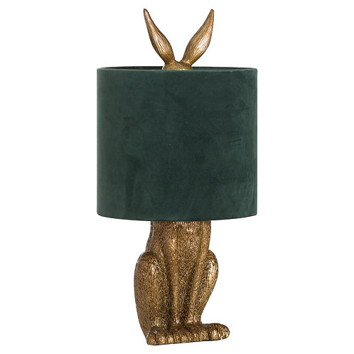 Hare Lamp Gold