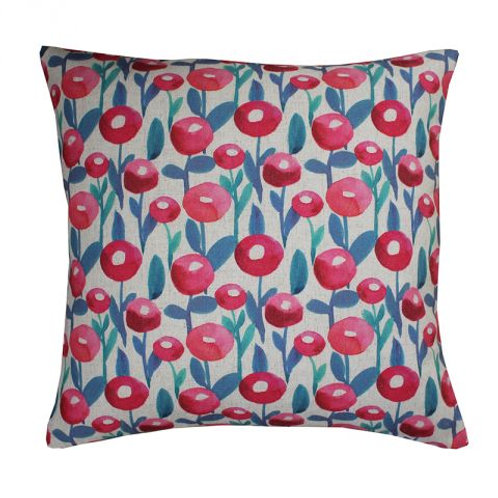 Bold print cushion