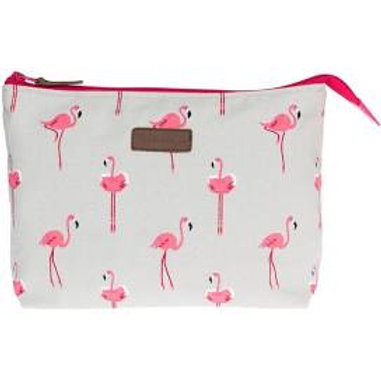 Sophie Allport Flamingo washbag large