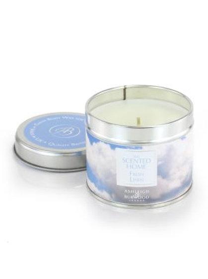 Tin Candle -fresh linen