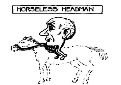 Der pferdlose Kopfmann. Social-Distancing Teil 1 von 2