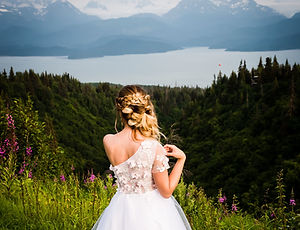 Alaska Wedding Venue, Bride, bay and moutains by Styled Shoots Across America
