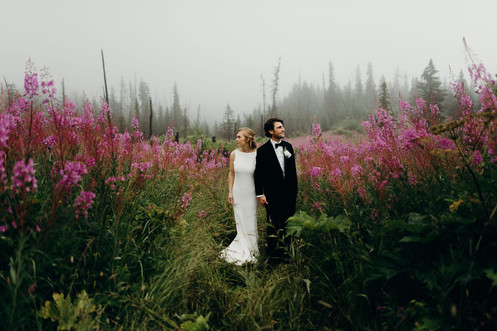 Bride and Groom with Fireweed