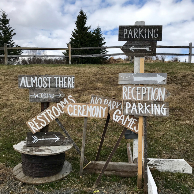 Rustic Hand Painted Signs