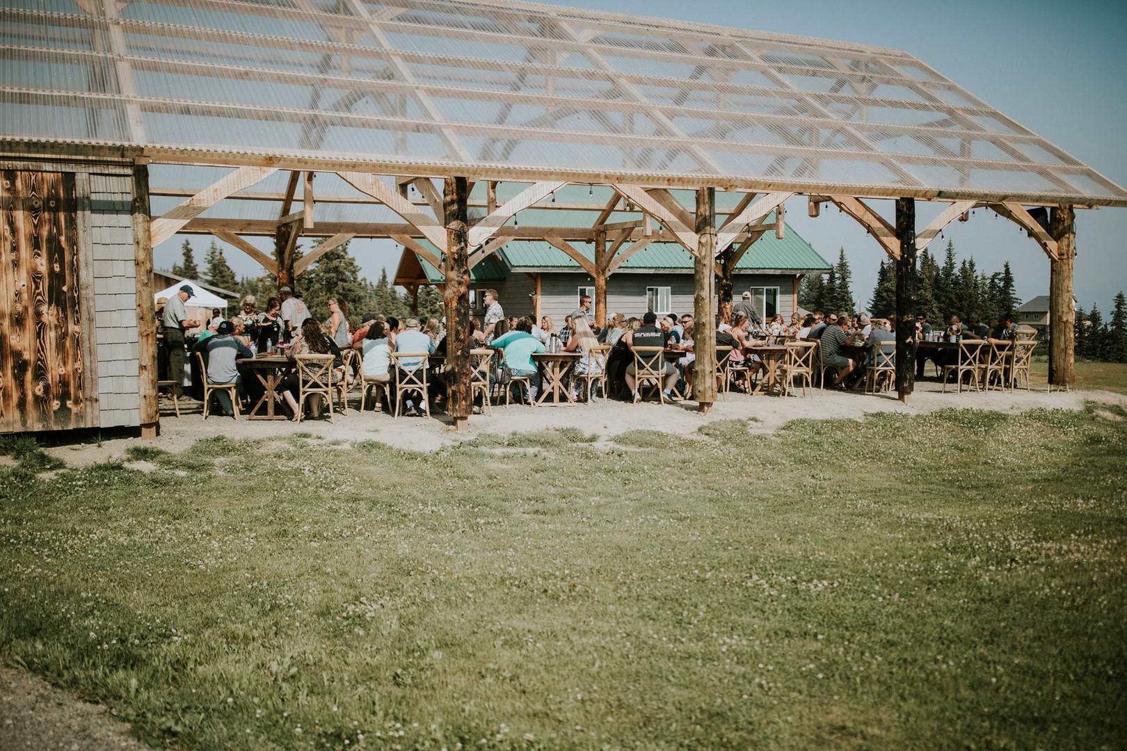 Wedding Recption under Pavilion