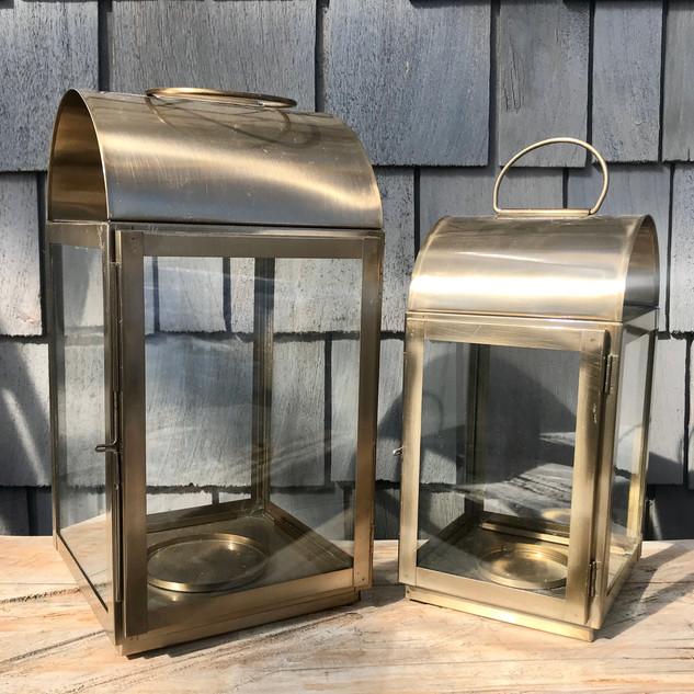 Gold Round Top Lanterns