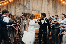 Rustic Wedding Barn send of at AK Diamond J Ranch, Alaskan Wedding Venu