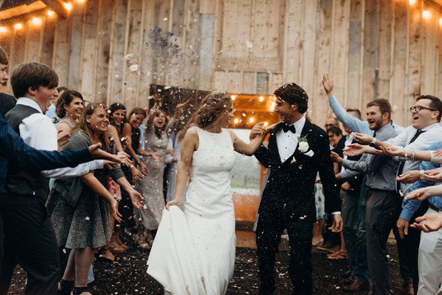 Heritage Barn Wedding Send Off