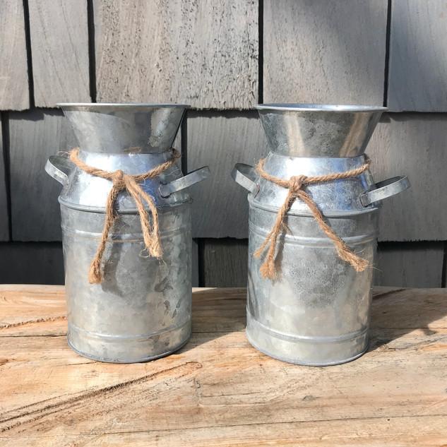 Mini Tin Milk Jugs
