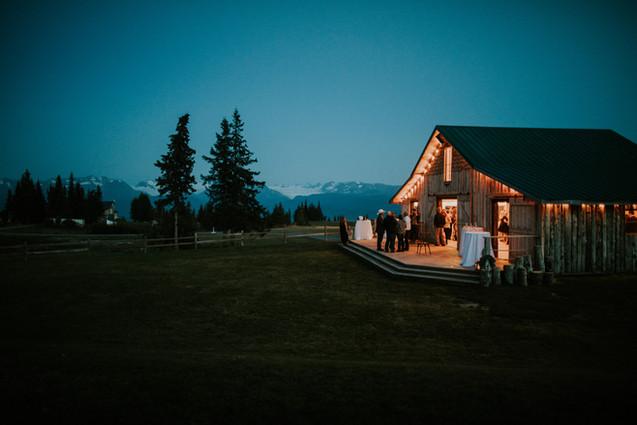 Rustic Wedding Barn - Mid August - Evening light