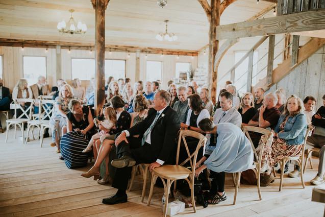 Rustic Barn Wedding Cermony