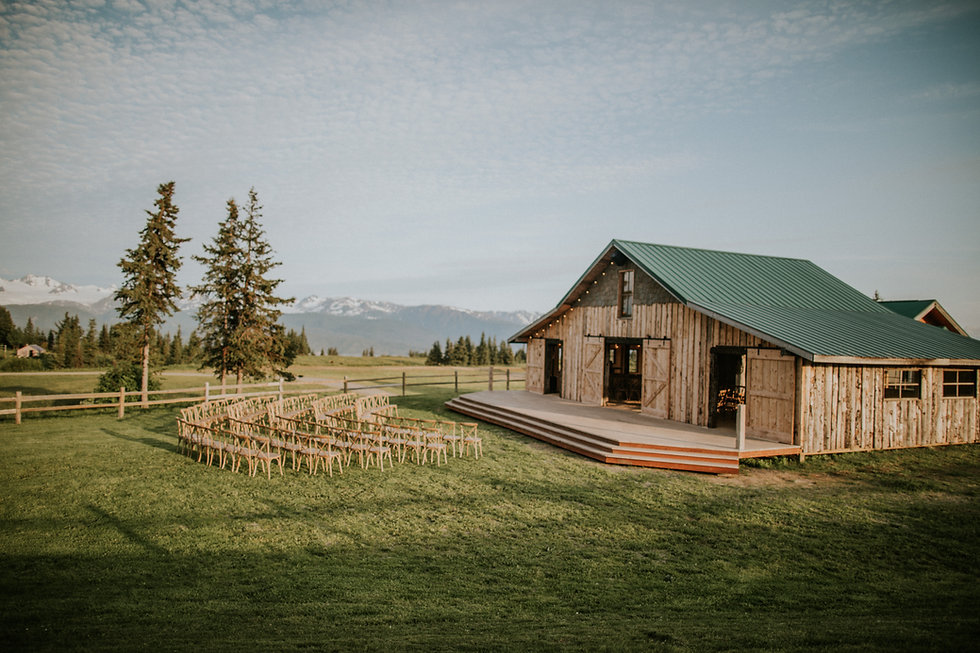 Heritag Barn a Rustic Barn at AK Diamond J Ranch Wedding and Event Venue in Homer Alaska