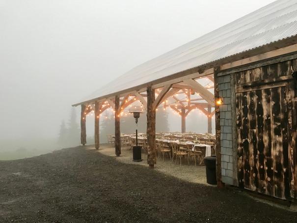 Misty Reception under the Pavilion
