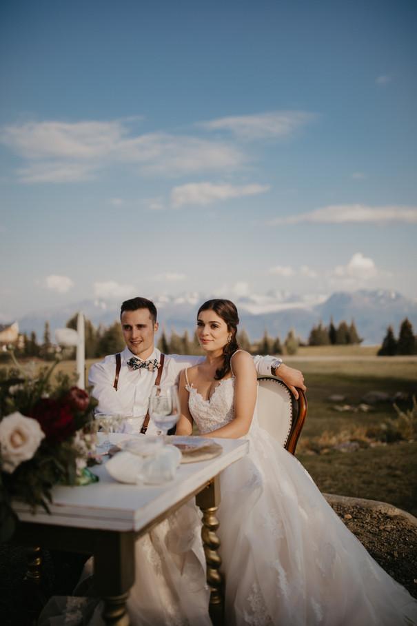 Bride and Groom - Alaskan View