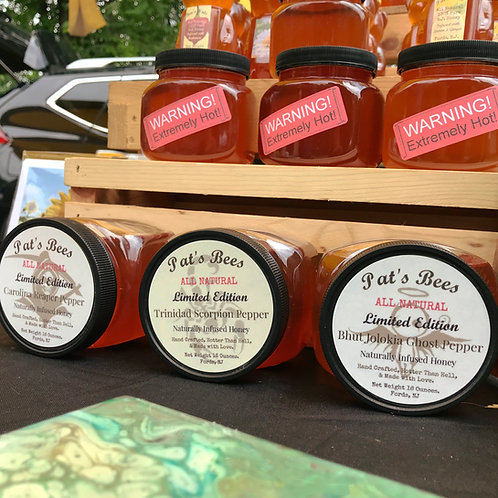 Pat's Bees Spicy Infused Honey