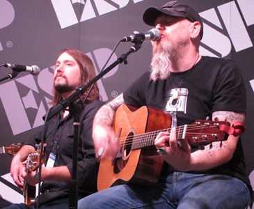 Metalliville, Review, Jason Charles Miller, NAMM, Anaheim Convention Centre, Anaheim, California, Sunday, January, 21, 2017, Glenn Milligan, ESP, Booth, Sunday, Takamine, Acoustic, Country, Southern Rock, Live, Gig, Concert, Vocals, USA, Bass, Guitar, Zack Hall