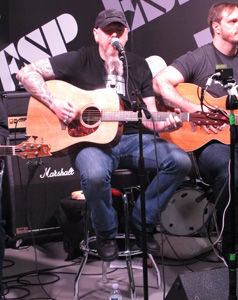 Metalliville, Review, Jason Charles Miller, NAMM, Anaheim Convention Centre, Anaheim, California, Sunday, January, 21, 2017, Glenn Milligan, ESP, Booth, Sunday, Takamine, Acoustic, Country, Southern Rock, Live, Gig, Concert, Vocals, USA, Guitar, John Huldt, United States Of America, North America