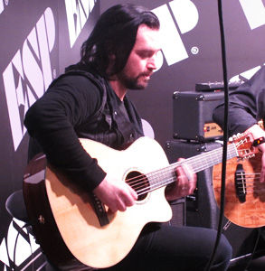 Metalliville, Review, Jason Charles Miller, NAMM, Anaheim Convention Centre, Anaheim, California, Sunday, January, 21, 2017, Glenn Milligan, ESP, Booth, Sunday, Takamine, Acoustic, Country, Southern Rock, Live, Gig, Concert, Vocals, USA, Guitar, Gary Potter Jr, United States Of America, North America