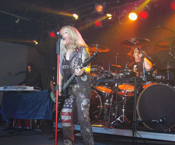 Micheal T. Ross, Lita Ford, Stet Howland, Fort Myers, Ricochet, Florida, USA, United States Of America, North America, April, 2009, Rock, Live. Gig, Concert, Fort Myers Beach, Cape Coral