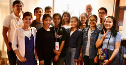 Sponsored students with Kosal and Norbert